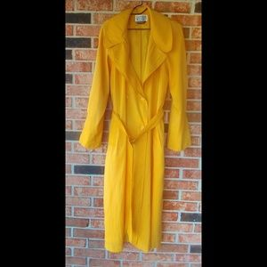 VNTG Vision Yellow Spring Summer Trench Coat 8